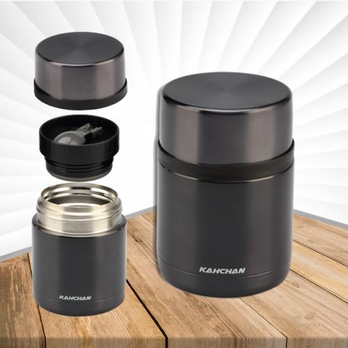 Bình ủ thực phẩm cao cấp,Bình nấu thức ăn không điện, bình đựng cơm,bình giữ nhiệt cao cấp Kahchan XFJ5-50 ( màu đen)