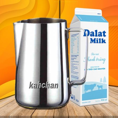 Ca đánh sữa inox không gỉ 350ml