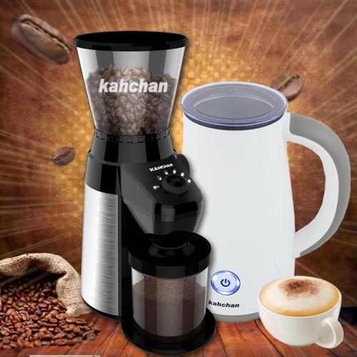 máy xay cafe cho quán và máy đánh sữa tạo bọt  Kahchan
